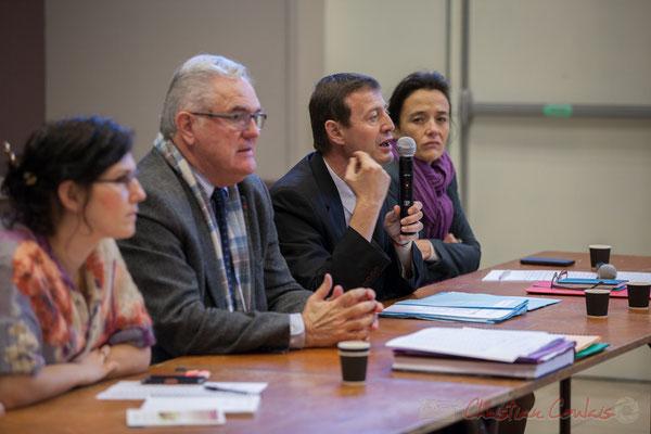Anne Laure Fabre-Nadler et Jean-Marie Darmian, Vices-présidents du Conseil départemental; Thierry Suquet, Secrétaire général de la Préfecture de la Gironde; Mathilde Feld, Présidente de la CDC du Créonnais
