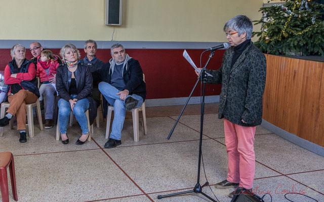 Nathalie Aubin, Maire de Haux et une partie de son Conseil municipal, 14 janvier 2017