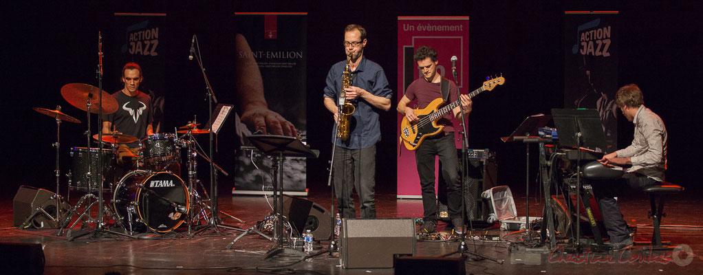 5 Gaétan Diaz, Julien Dubois, Ouriel Ellert, Simon Chivallon, quartet Le JarDin. Tremplin Action Jazz 2017. Le Rocher de Palmer