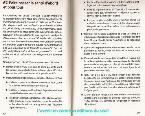 Extrait (1 des 83 points) du livre-programme l'Avenir en commun, 3€, éditions du Seuil.
