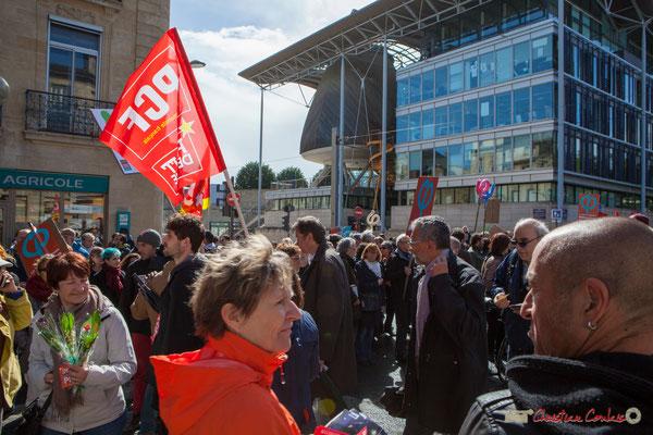 P.C.F. & Front de Gauche. Manifestation du 1er mai 2017, avec la France Insoumise, cours d'Albret, Bordeaux