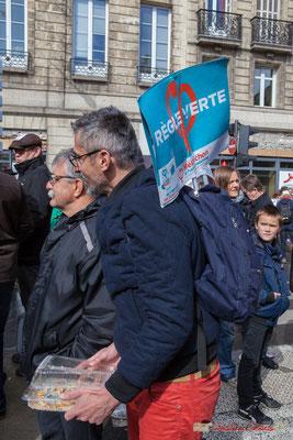 """""""Règle verte"""" Manifestation du 1er mai 2017, avec la France Insoumise, cours d'Albret, Bordeaux"""
