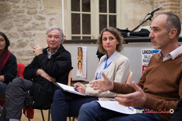 Les militants, Marie Duret-Pujol, candidate aux élections européennes La France insoumise et Loïc Prud'homme, Député de la Gironde. Langon, 14/02/2019