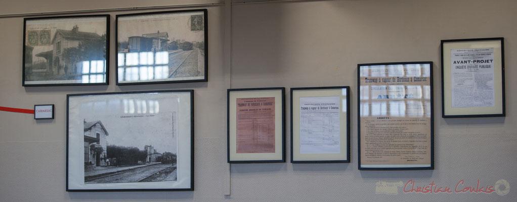 """Cartes postales anciennes, """"Tramway à vapeur de Bordeaux à Camarsac"""""""
