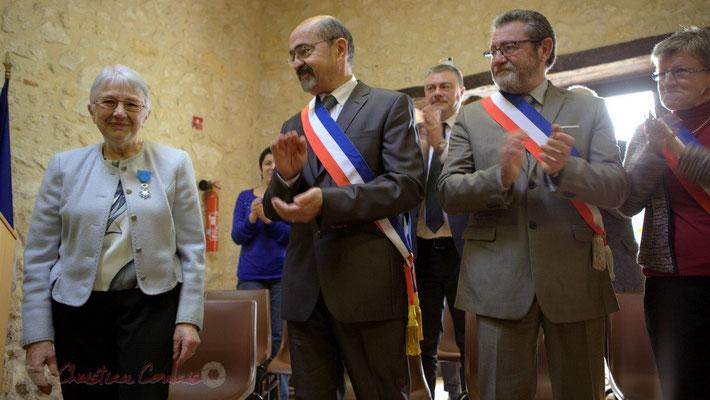 Suzette Grel, Michel Nadaud et son Conseil municipal. 7 février 2015 à Le Pout
