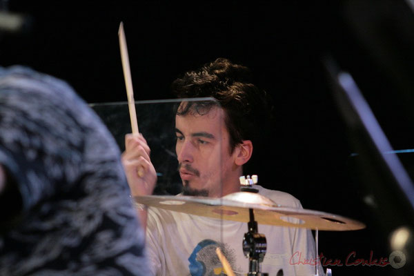 Batteur, Big Band du Conservatoire Jacques Thibaud, section MMA. Festival JAZZ360, Cénac. 03/06/2011