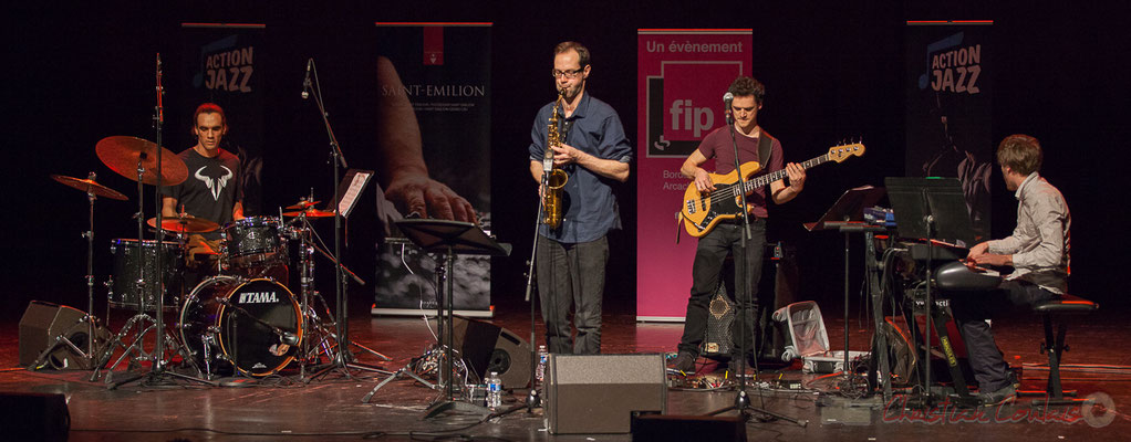 4 Gaétan Diaz, Julien Dubois, Ouriel Ellert, Simon Chivallon, quartet Le JarDin. Tremplin Action Jazz 2017. Le Rocher de Palmer