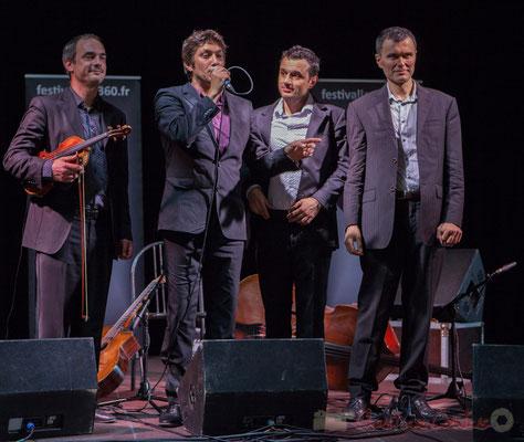 Jean Lardanchet, Laurent Vincenza, Sylvain Pourrat, Yannick Alcocer, Minor Sing. Festival JAZZ360 2016, Latresne, 12/06/2016