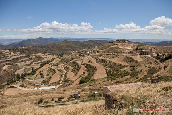 Panorama au sud d'Ujué, Navarre, Espagne / Panorama al sur de Ujué, Navarra, España