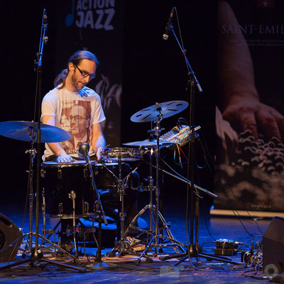 4 Simon Pourbaix du trio King Kong III. Tremplin Action Jazz 2017. Le Rocher de Palmer, Cenon