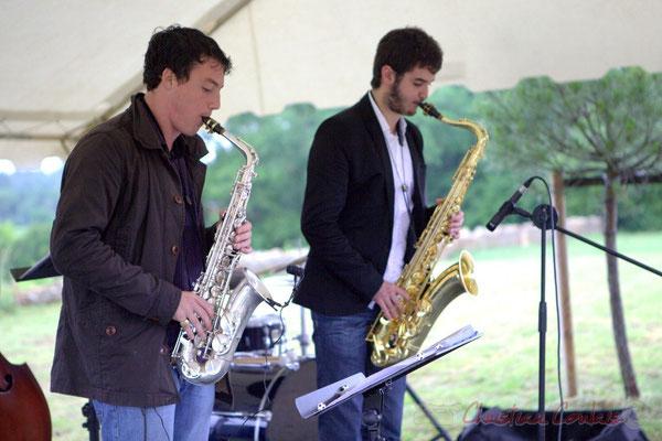 Laurent Robino, Florian Marques; Naxee Quintet, Festival JAZZ360 2012, château Lestange, Quinsac. 10/06/2012