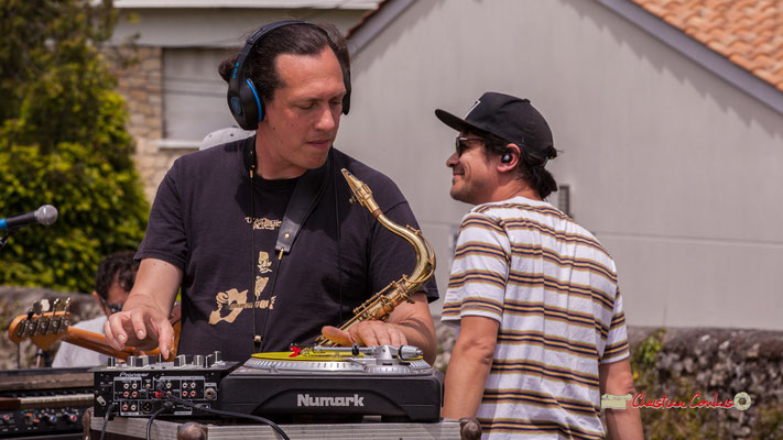Vincent Lefort, Olivier Lerole; The Protolites. Festival JAZZ360 2019, Quinsac. 09/06/2019