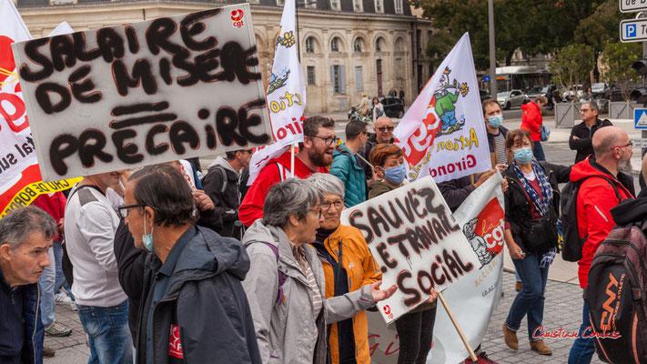 """""""Sauvez le travail social"""" Manifestation intersyndicale, Bordeaux, mardi 5 octobre 2021. Photographie © Christian Coulais"""
