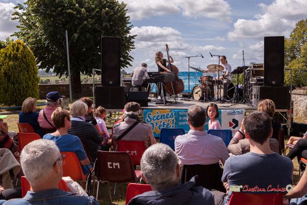 Loïc Cavadore Trio : Loïc Cavadore, Nolwenn Leizour, Simon Pourbaix. Festival JAZZ360 2019, Camblanes-et-Meynac. 08/06/2019