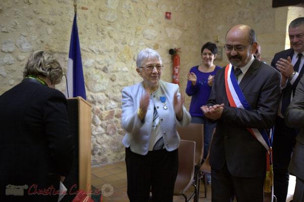 Sincères remerciements de Suzette Grel, Chevalière de l'Ordre national du Mérite, ce 7 février 2015 à Le Pout