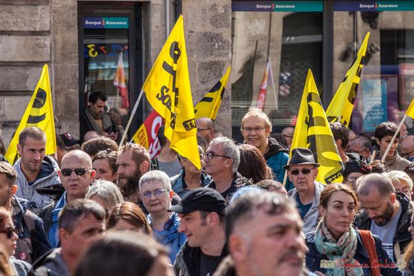 """Solidaires Sud """"la Poste, pardon PTT"""" Manifestation contre la réforme du code du travail. Place Gambetta, Bordeaux, 12/09/2017"""