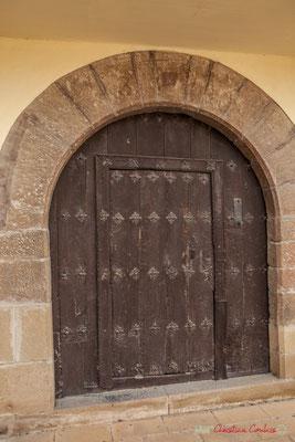 Porte d'entrée de l'hôtel de ville / Puerta de entrada del Ayuntamiento de Liédena. Navarra