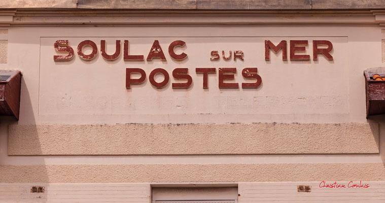 """""""Postes-Télégraphes-Téléphones"""" Soulac-sur-Mer. Samedi 3 juillet 2021. Photographie © Christian Coulais"""