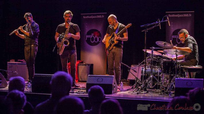 Joce Meinniel, Sylvain Rifflet, Philippe Gordiani, Nicolas Larmignat, Sylvain Rifflet Quartet, Festival JAZZ360 2016, Cénac, 10/06/2016