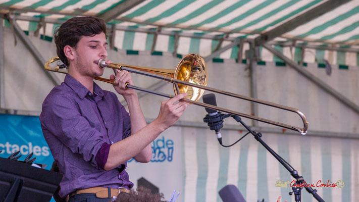 Victor Dubray; Big Band du Conservatoire Jacques Thibaud. Festival JAZZ360 2019, parc du château de Pomarède, Langoiran. 06/06/2019