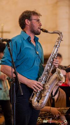 Jérôme Mascotto; Big Band Jazz du conservatoire de Bordeaux Jacques Thibaud. Festival JAZZ360 2018, Cénac. 09/06/2018