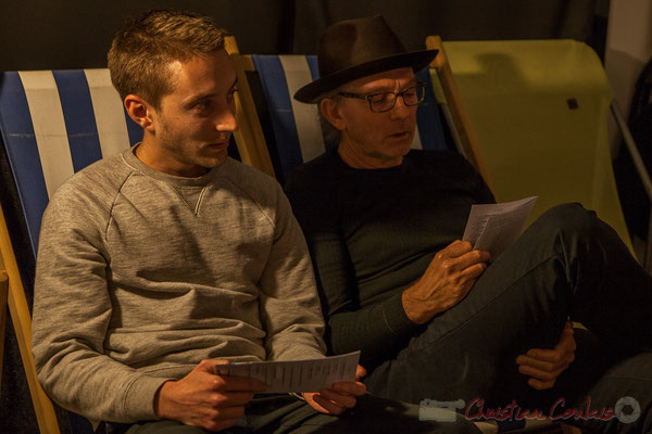 Jordan Cauvin et Philippe Cauvin. Le Rocher de Palmer, 12/12/2015. Reproduction interdite - Tous droits réservés © Christian Coulais