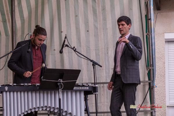 Félix Robin, Mathieu Tarot, direction d'orchestre; Big Band du Conservatoire Jacques Thibaud. Festival JAZZ360 2019, parc du château de Pomarède, Langoiran. 06/06/2019