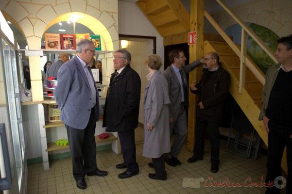 Jean-Marie Darmian, Vice-président du Conseil départemental et Alain Leveau, Président du Pays Cœure Entre-Deux-Mers.