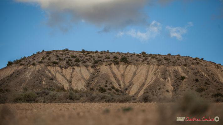 Ravinement de la colline, Parque natural de las Bardenas Reales, Navarra