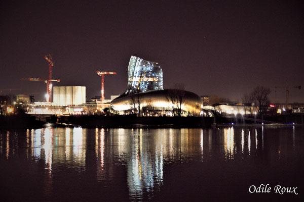 La Cité de la culture et des civilisations du vin photographiée par Odile Roux. Bordeaux, 27 février 2019