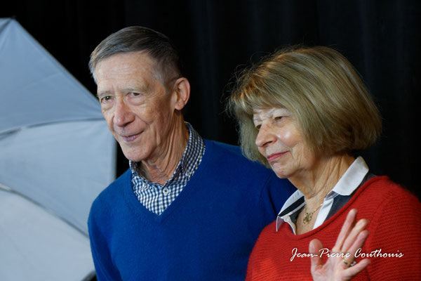Michèle et Gérard Pointet photographiés par Jean-Pierre Couthouis. Cénac, samedi 2 février 2019