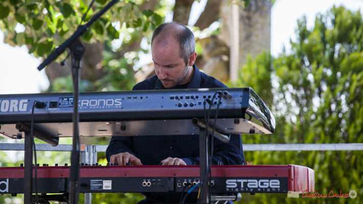 Christophe de Miras, pianiste; Tom Ibarra Group. Festival JAZZ360, 10 juin 2017, Camblanes-et-Meynac