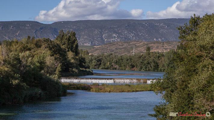 Le fleuve Aragon depuis le Pont de Fer à l'entrée de Sangüesa / El río Aragón desde el puente de hierro a la entrada de Sangüesa, Navarra