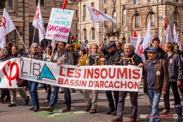 11h00 LIBA, l'avenir en commun, les Insoumis Bassin d'Arcachon. Place Gambetta, Bordeaux. 01/05/2018