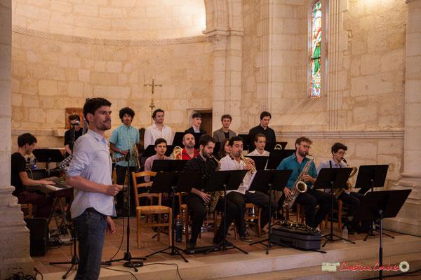 Mathieu Tarot présente le répertoire du Big Band Jazz du conservatoire de Bordeaux Jacques Thibaud. Festival JAZZ360 2018, Cénac. 09/06/2018