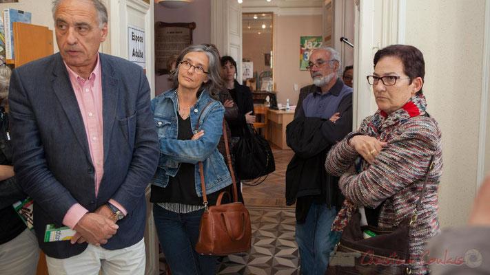 Francis Delcros, Maire de Latresne; Sandrine Salier, élue à Latresne; Robert Mensencal, bénévole JAZZ360; Marie-Angèle Rey, élue à Camblanes-et-Meynac