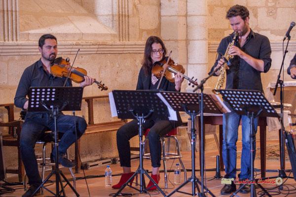 Bastien Ribot, Aude-Marie Duperret, Maxime Berton; François Poitou Quintet. Festival JAZZ360 2019, Cénac. 07/06/2019