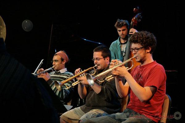 Trompettes. Big Band du Conservatoire Jacques Thibaud, section Musiques Actuelles Amplifiées-Jazz. Festival JAZZ360 2010, Cénac. 14/05/2010