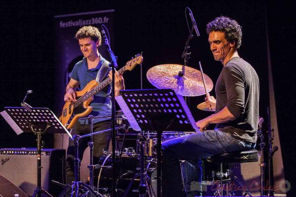 Le Jardin Quartet : Ouriel Ellert, basse / Gaétan Diaz, batterie. Festival JAZZ360 2016, 10/06/2016