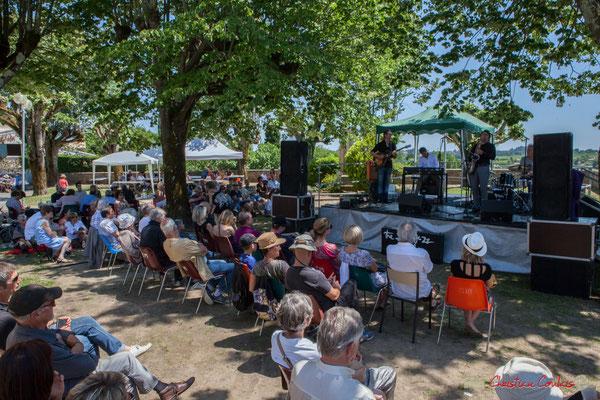 Sous la protection des tilleuls et leur parfum envoûtant. Soul Jazz Rebels. Festival JAZZ360, 10 juin 2017, Camblanes-et-Meynac
