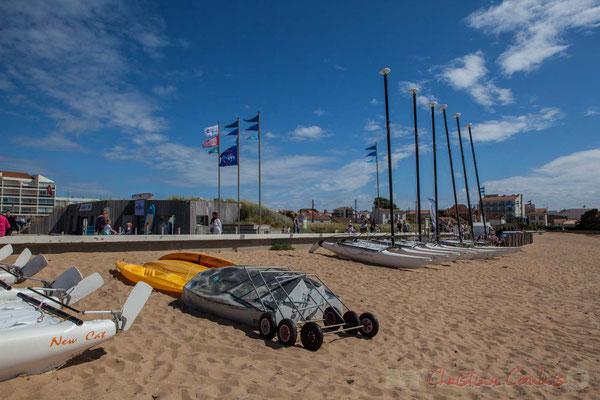 Ecole de voile, Sion-sur-l'Océan, Corniche vendéenne, Vendée, Pays de la Loire