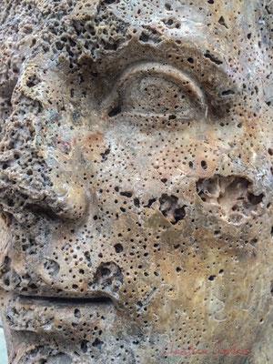 Tête colossale d'Auguste. Marbre blanc. Ier s. av. J.-C., 1er quart. Découvert au large de Fos (1987) Envoyée, d'Italie, la statue devait mesurer entre 3,5 m et 4 m de haut, afin de servir de propagande impériale