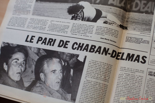 Article de Jean-Marie Darmian sur les Girondins de Bordeaux, dans Bordeaux Actualités. Archives Jean-Marie Darmian