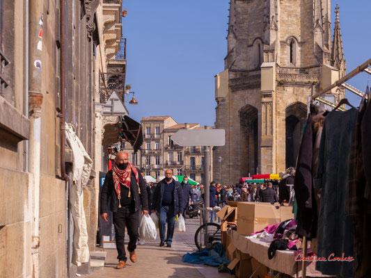 """""""Keffieh"""" Marché Saint-Michel, Bordeaux. Samedi 6 mars 2021. Photographie © Christian Coulais"""
