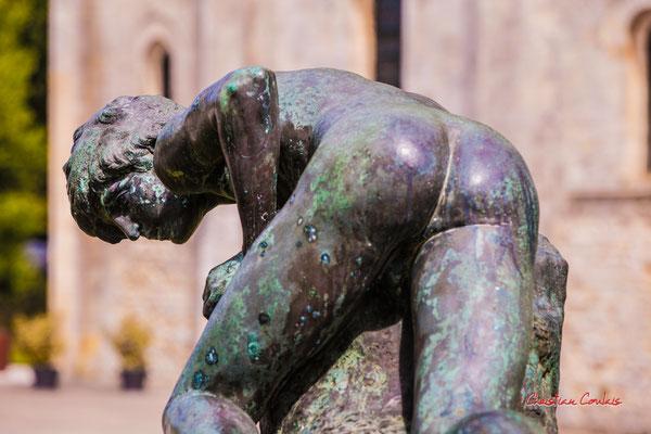 Sculture de bronze, Soulac-sur-Mer. Samedi 3 juillet 2021. Photographie © Christian Coulais