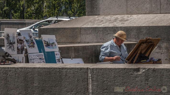 Peintre de rue, Pont du Carrousel, Paris 1er