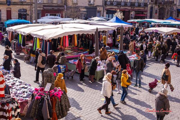 2/5 Marché Saint-Michel, Bordeaux. Samedi 6 mars 2021. Photographie © Christian Coulais