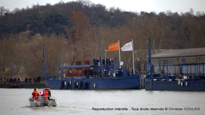 Les chantiers construction de bateaux CNB sont aussi sur les quais. Bordeaux, samedi 16 mars 2013