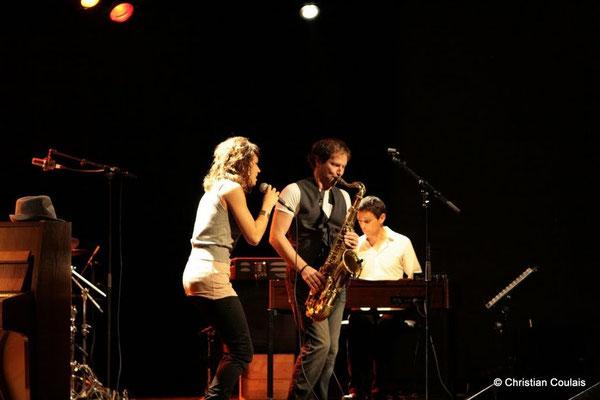 Olinka Mitroshina, Frédéric Borey, Hervé Saint-Guirons; Olinka Mitroshina Quartet, Festival JAZZ360 2011, Cénac. 01/06/2011
