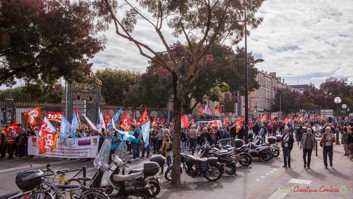 Manifestation intersyndicale unitaire de la Fonction publique, cours d'Albert, Bordeaux. 10/10/2017